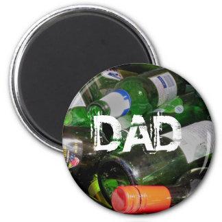 Bottles 6 Cm Round Magnet
