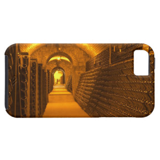 Bottles aging either in pupitres (racks) waiting iPhone 5 case