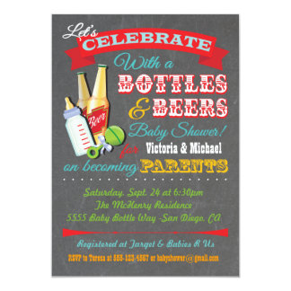 Bottles and Beer Baby Shower Invitations