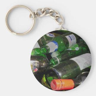 Bottles Basic Round Button Key Ring