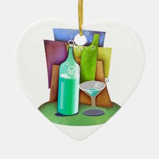 bottles ceramic heart decoration