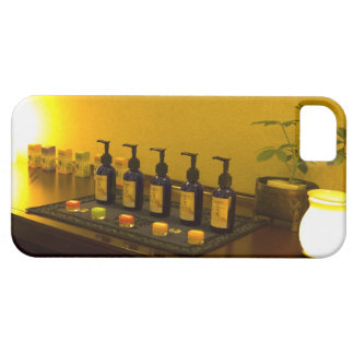 Bottles of aromatherapy oil in the beauty salon, iPhone 5 cases