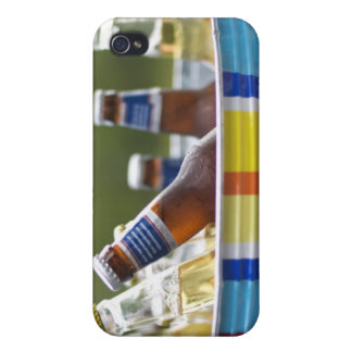 Bottles of beer in ice bucket iPhone 4 covers