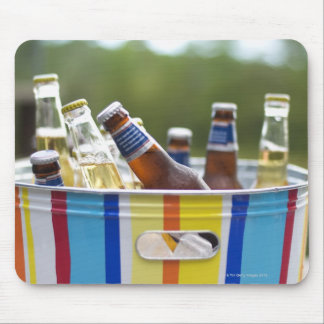 Bottles of beer in ice bucket mouse mat