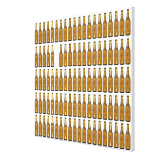 Bottles of beer on white background canvas print