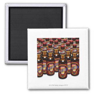 Bottles of beer side by side (Digital Composite) Magnet