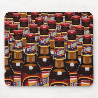 Bottles of beer side by side (Digital Composite) Mouse Mat