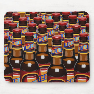 Bottles of beer side by side (Digital Composite) Mouse Pad