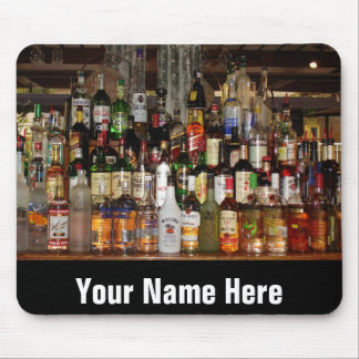 Bottles of Liquor Mouse Pad
