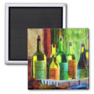 Bottles of Wine Near Window Fridge Magnets