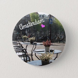 Bottom ~ Amsterdam, Holland 6 Cm Round Badge
