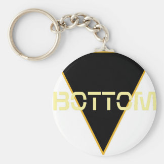 Bottom Basic Round Button Key Ring