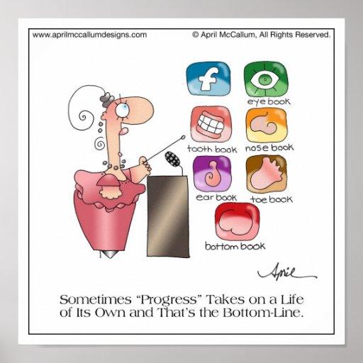 BOTTOM BOOK Cartoon Poster by April McCallum