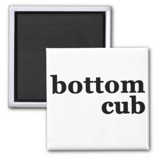 Bottom Cub Square Magnet