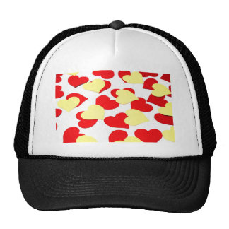 bottom of hearts mesh hat