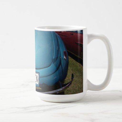 Bottoms Up BLUE Kruzen classic car wide Mug