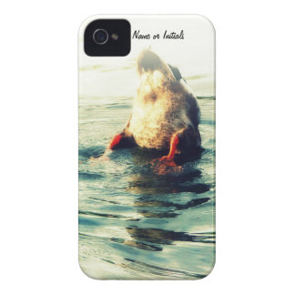 Bottoms UP! Funny Duck Butt Photo iPhone 4 Case-Mate Case