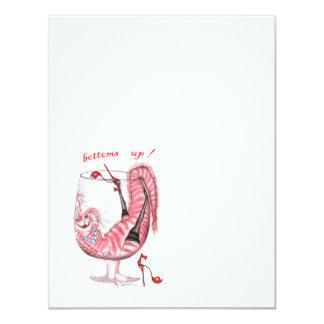 bottoms up, tony fernandes 11 cm x 14 cm invitation card
