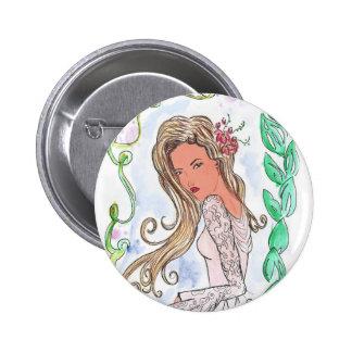 Bottons Art Nouveau 6 Cm Round Badge