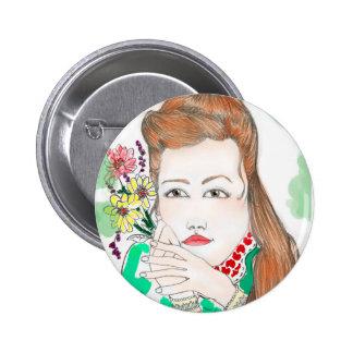 Bottons Flower 6 Cm Round Badge