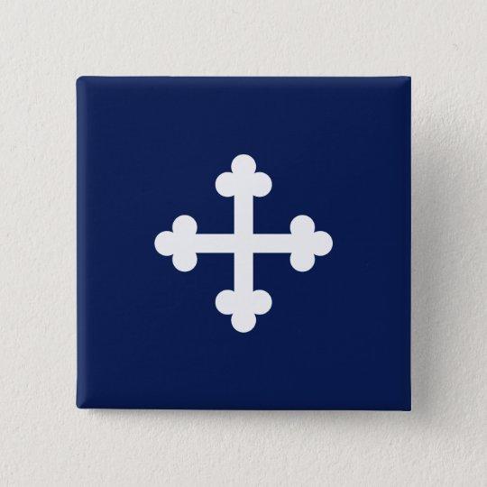 Bottony Blue Flag 15 Cm Square Badge
