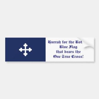 Bottony Blue Flag, Hurrah! Bumper Sticker