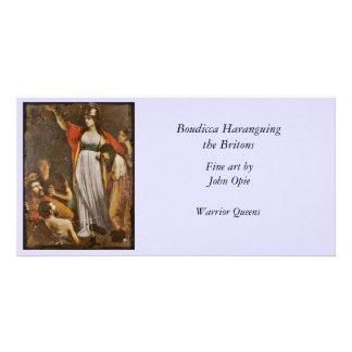 Boudicca Harangues the Britons Custom Photo Card
