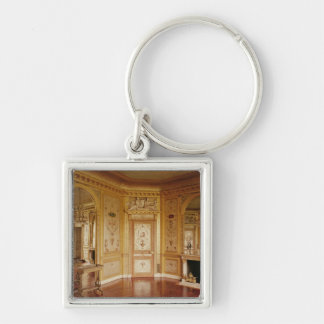 Boudoir of Marie-Antoinette decorated in 1785 Keychains
