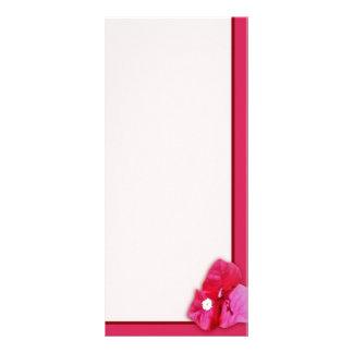 Bougainvillea Blossom Rack Card Template