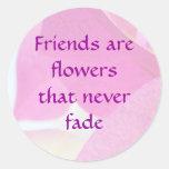 Bougainvillea Friendship Round Sticker