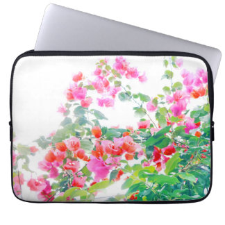 bougainvillea laptop sleeve