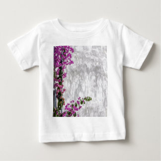 bougainvillea on wall as texture baby T-Shirt
