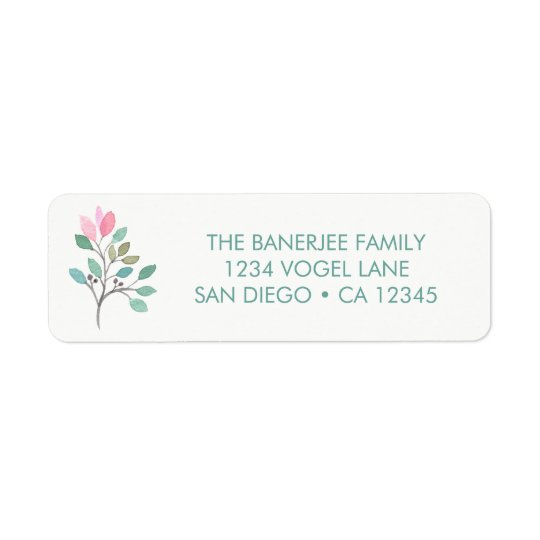 Bougainvillea Return Address Label