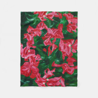 Bougainvilleas - an ode to nature fleece blanket