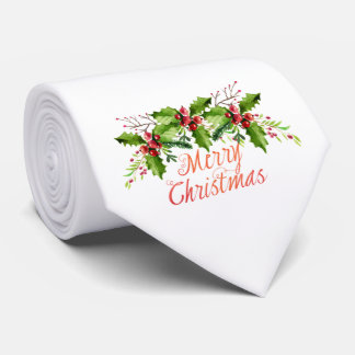 Boughs of Holly Holiday Tie