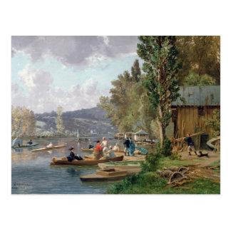 Bougival, 1873 postcard