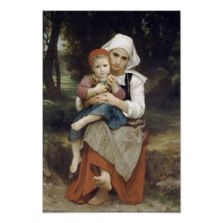 Bouguereau-Breton Brother and Sister Poster