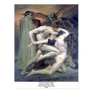 Bouguereau - Dante et Virgile au Enfers Postcard