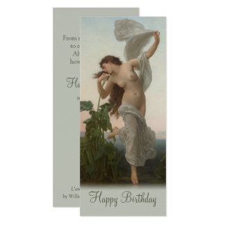 Bouguereau Dawn L'Aurore CC0875 Birthday Card