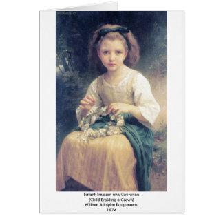 Bouguereau - Enfant Tressant une Couronne Card
