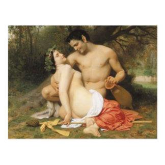 Bouguereau - Faune et Bacchante Postcard
