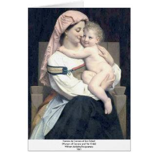 Bouguereau - Femme de Cervara et Son Enfant Greeting Card