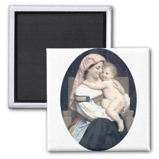 Bouguereau - Femme de Cervara et Son Enfant Refrigerator Magnet