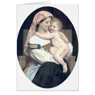 Bouguereau - Femme de Cervara et Son Enfant Note Card