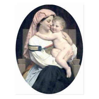 Bouguereau - Femme de Cervara et Son Enfant Postcard