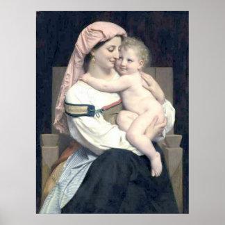 Bouguereau - Femme de Cervara et Son Enfant Poster