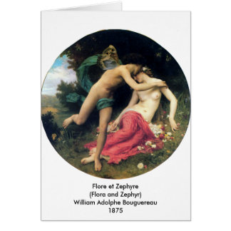 Bouguereau - Flore et Zephyre Greeting Card