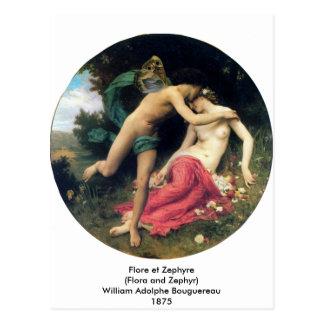 Bouguereau - Flore et Zephyre Postcard