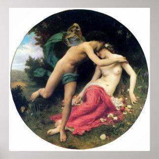 Bouguereau - Flore et Zephyre Poster