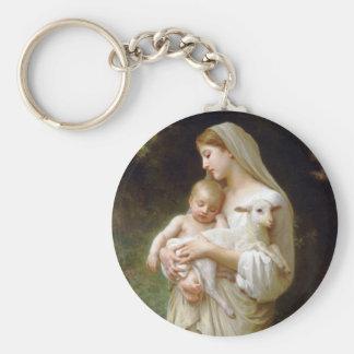 Bouguereau Innocence Key Chain